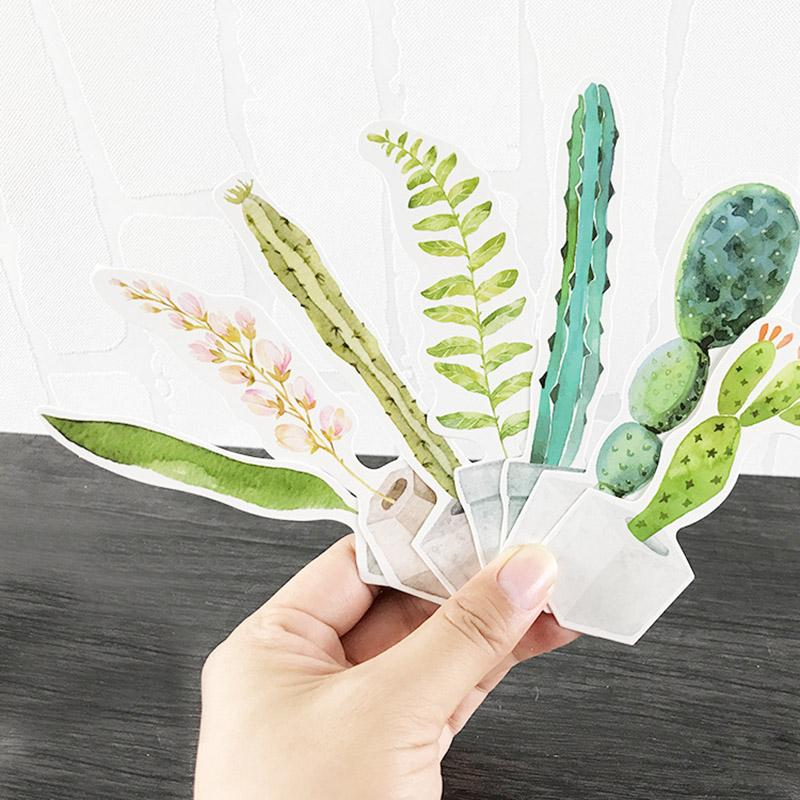 Watercolor Plant Bookmarks