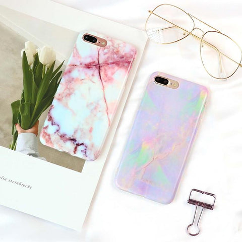 Pastel Marble iPhone Cases
