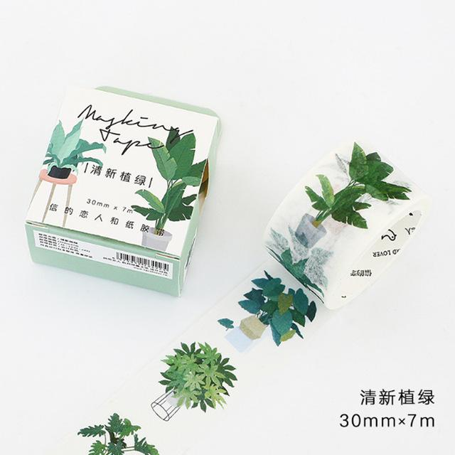 Plant & Street Art Series Washi Tape