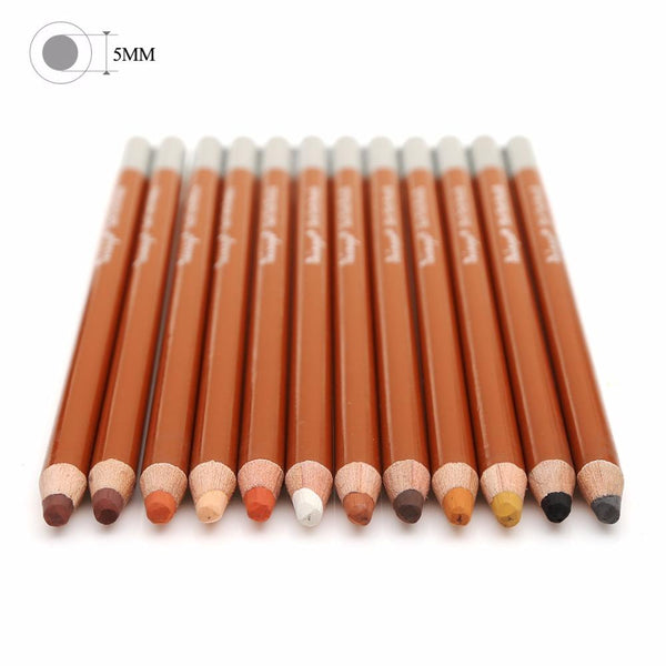 Skin Tones Coloring Pencils - 12 Piece Set