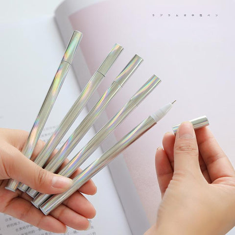 4pcs/set holographic gel pens