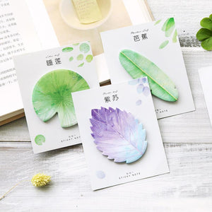 Natural leaf memo pad