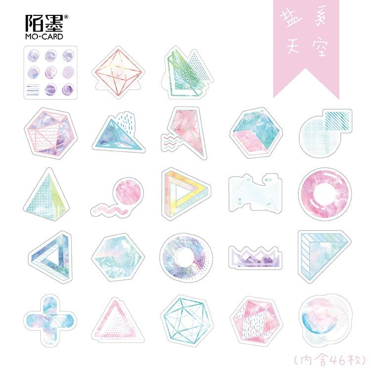 Geometric Pastel Stickers