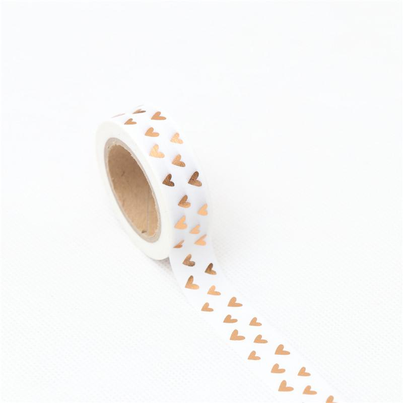 Little Gold Hearts Washi Tape