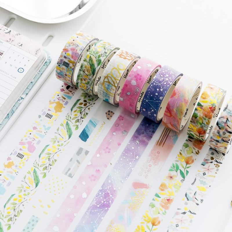 Foiled Flowers Washi Tape