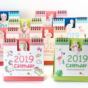 Flamingos and Unicorns Desktop Calendar
