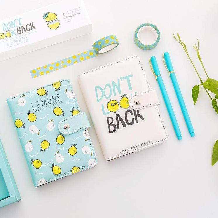 Kawaii Lemon Notebook Set