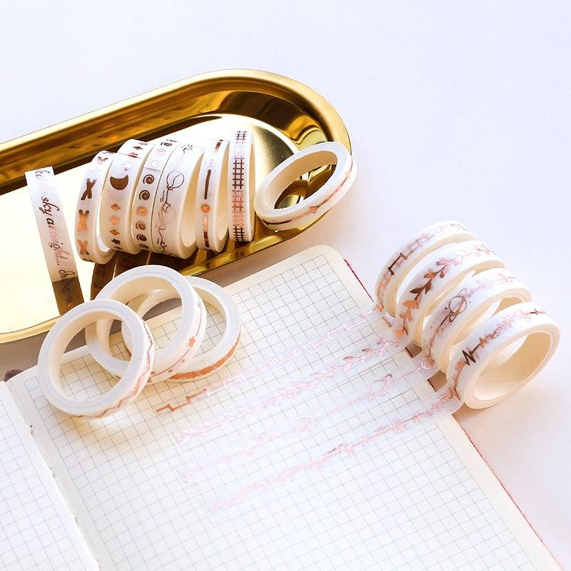 Rose Gold Slim Washi Tape