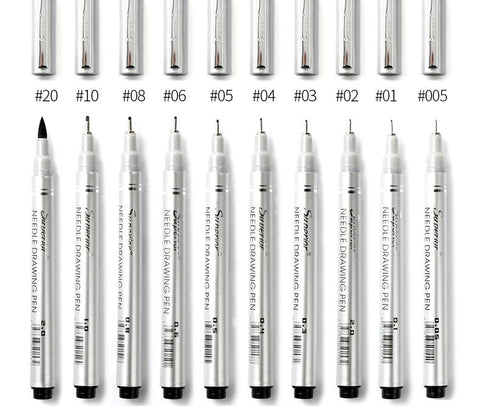 10 superior waterproof pigment fineliner set