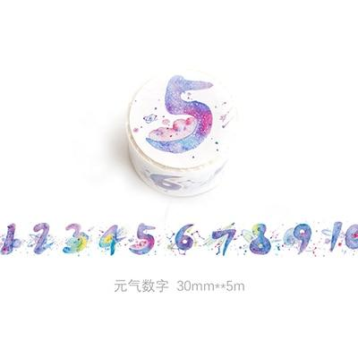 Galaxy Numbers Washi Tape