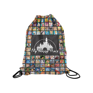 Happy Place Medium Drawstring Bag