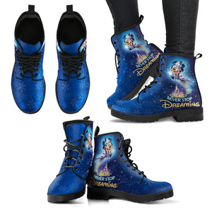 Never Stop Dreaming Women's Leather Boots