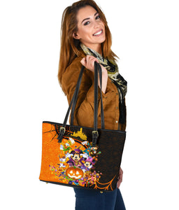 Dn Halloween Leather Tote Bag