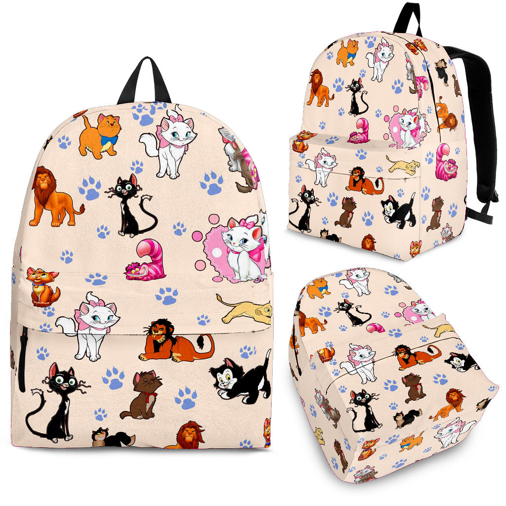 Cats All Over Backpack Nude