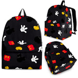 Mini Mickey Pattern Backpack Black