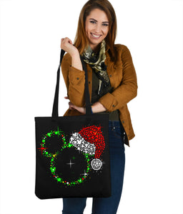 Mickey Christmas Premium Poly Cotton Tote Bag