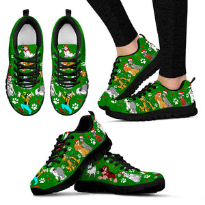Dog Disney Christmas Women's Sneakers (Black)