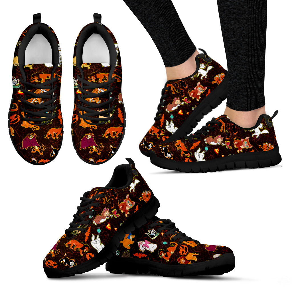 [Express Line Product+ 12$] Cats Disney Halloween Women's Sneakers (Black)