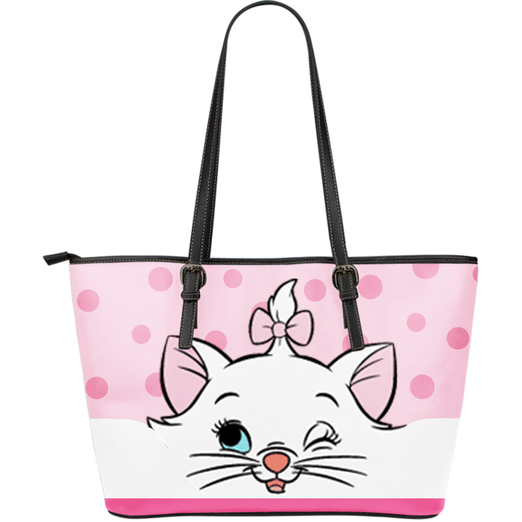 Disney Cat - Leather Tote Bag