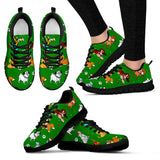 Dog Christmas Women's Sneakers (Black)