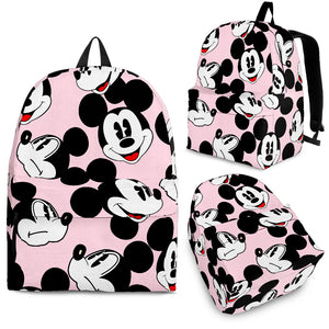 Mickey All Over Backpack Light pink