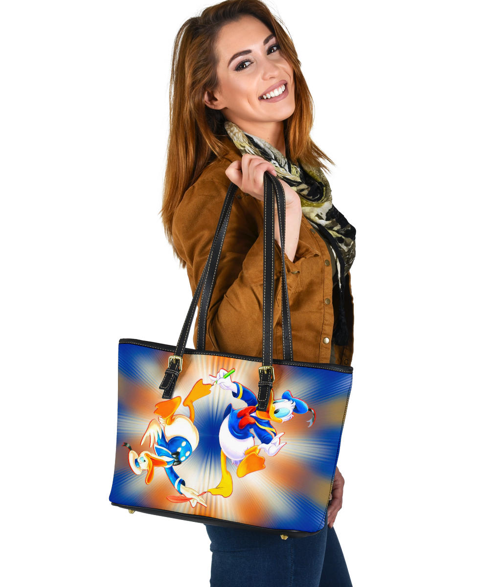 Dnald Duck Small Leather Tote
