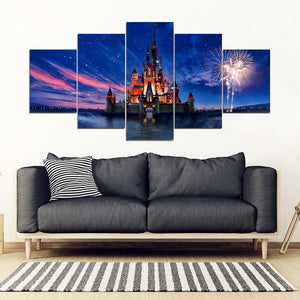 Castle 5 Piece Framed Canvas