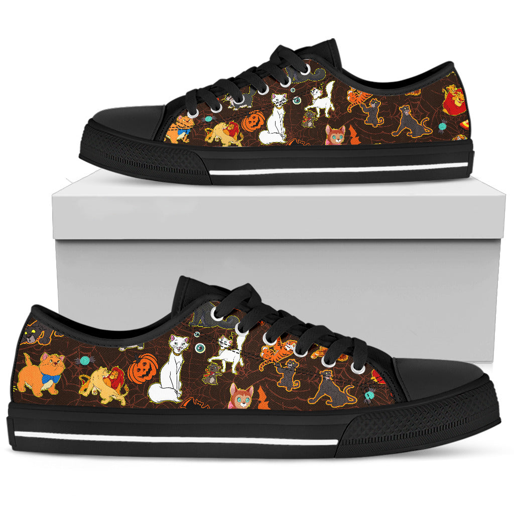 [Express Line Product+ 12$] Cats Disney Halloween Men's Low Top Shoe (Black)