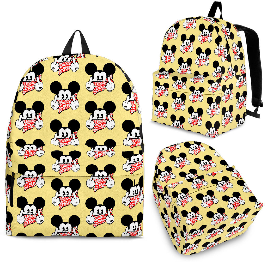 Mickey Cool Yellow Backpack