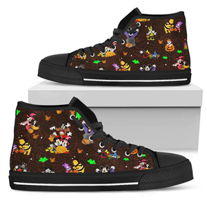 [Express Line Product+ 12$]Disney Halloween Men's High Top Shoe (Black)
