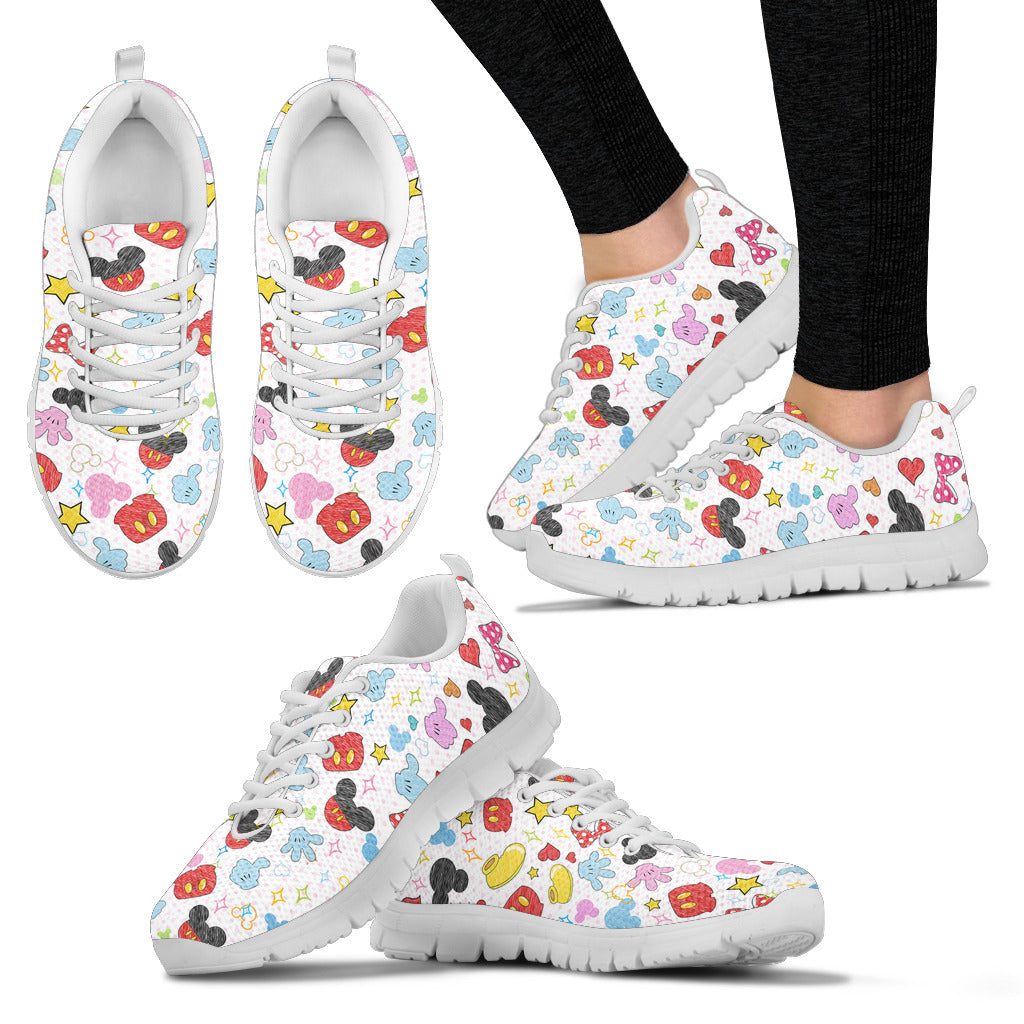 Mickey & Minnie Sneakers in White