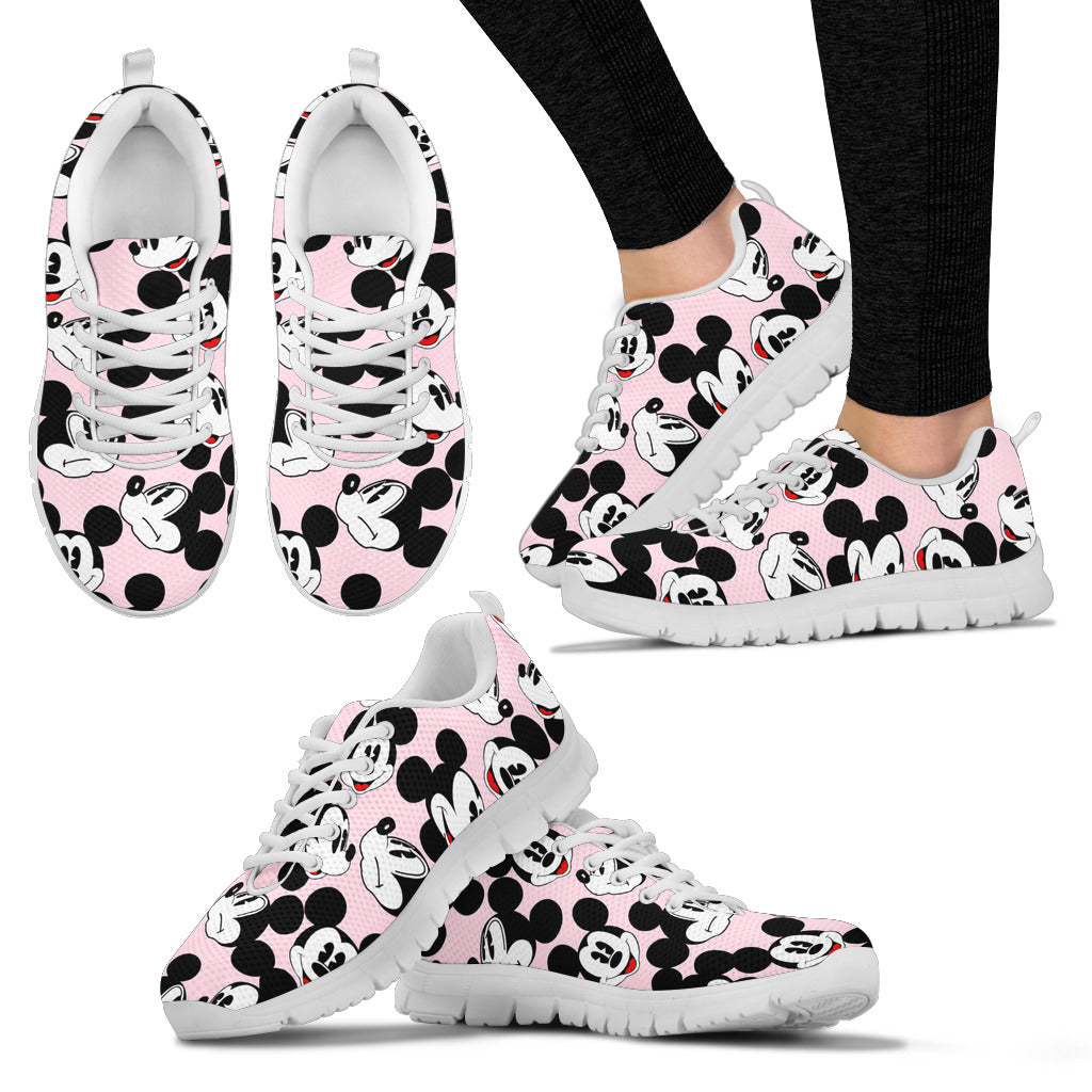 Mickey All Over Sneaker Light pink