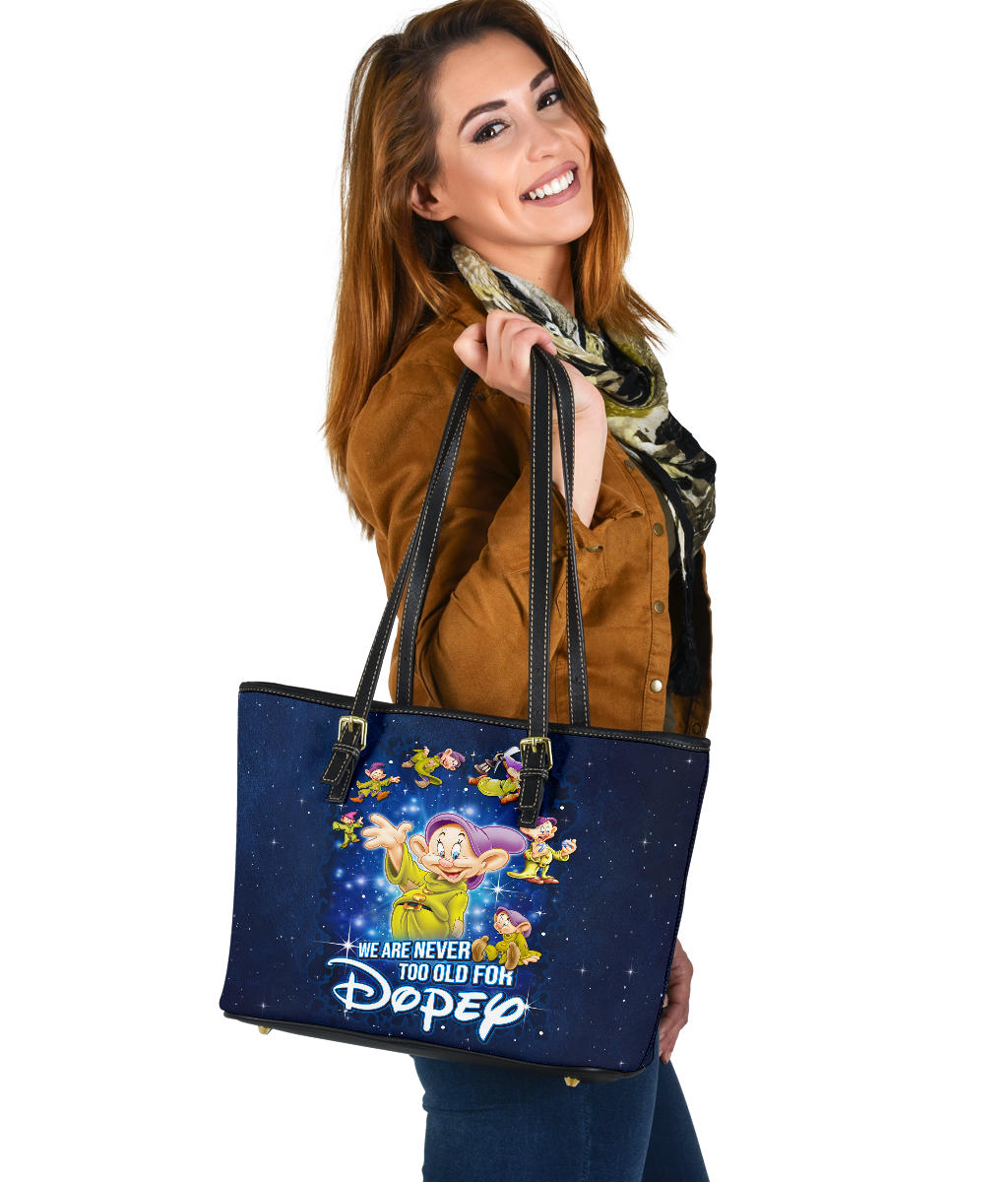 Dopey Never Too Old Tote Bag [EXPRESS SHIPPING APPLIED]