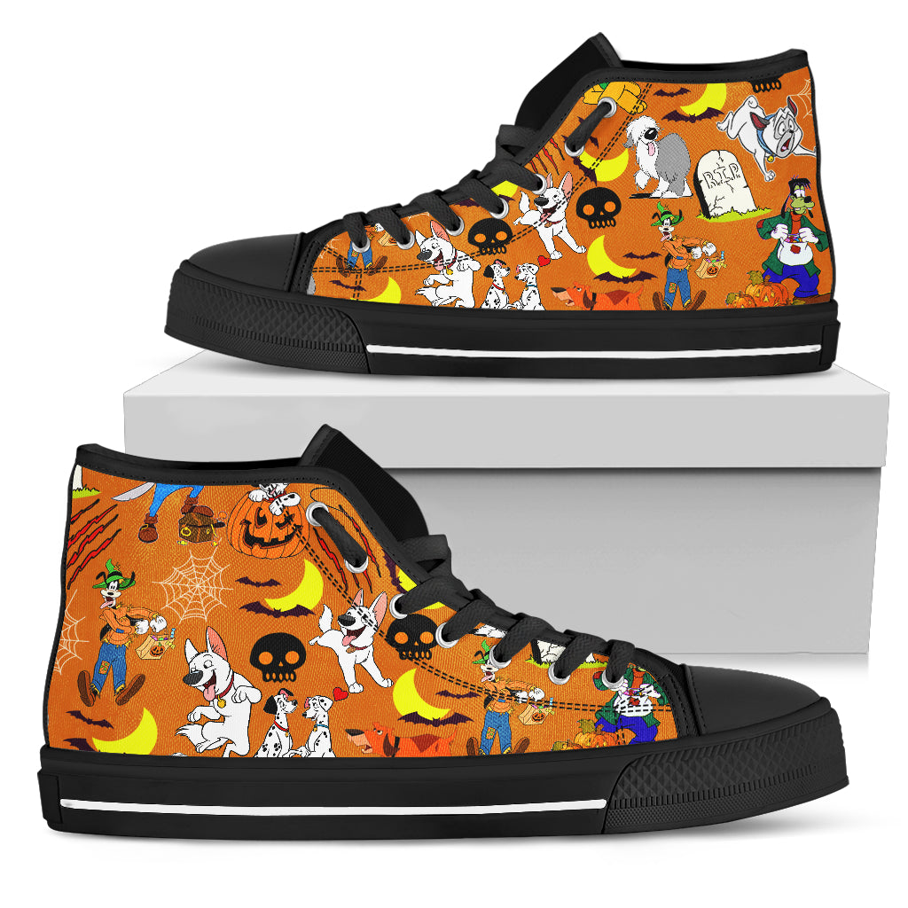 [Express Line Product+ 12$] Halloween Dogs Men's High Top Shoe (Black)