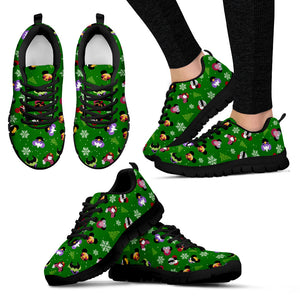 Villains Green Women's Sneakers (Black)