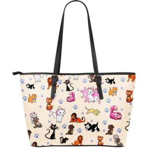 Disney Cats - Leather Tote Bag