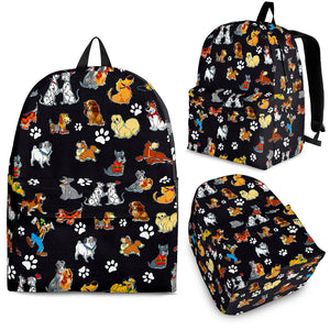 Dogs All Over Backpack Black