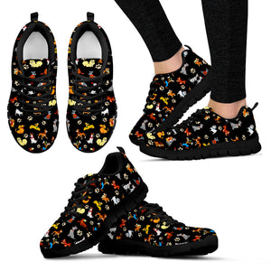 All Disney Dogs- Women's Sneakers in White