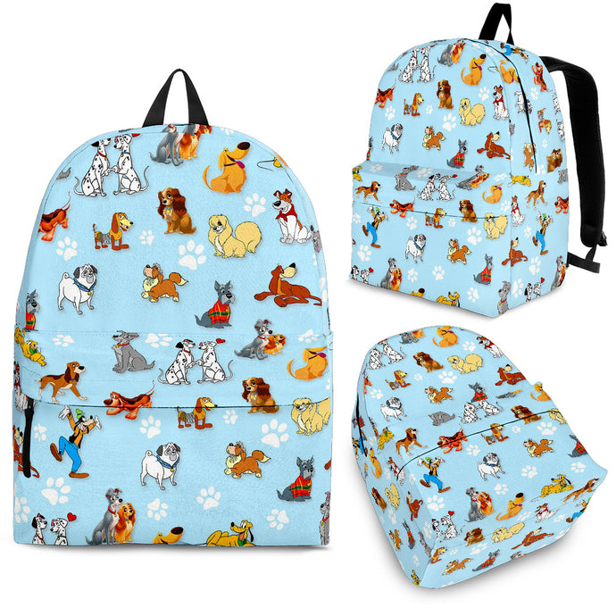 Dogs All Over Backpack Light blue