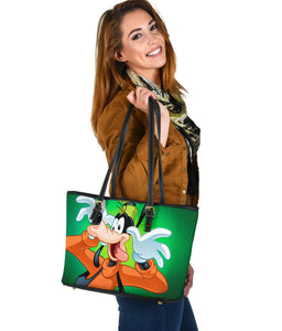 Goofy Small Leather Tote  [Express Shipping Applied]