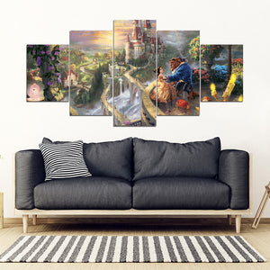 Beauty 5 Piece Framed Canvas