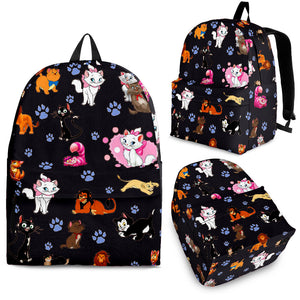 Cats All Over Backpack Black
