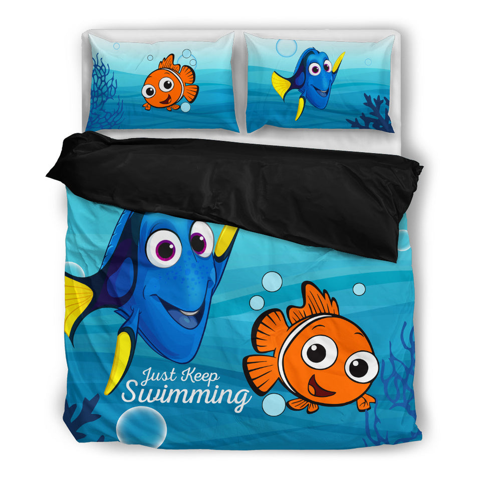 Just Keep Swimming Bedding