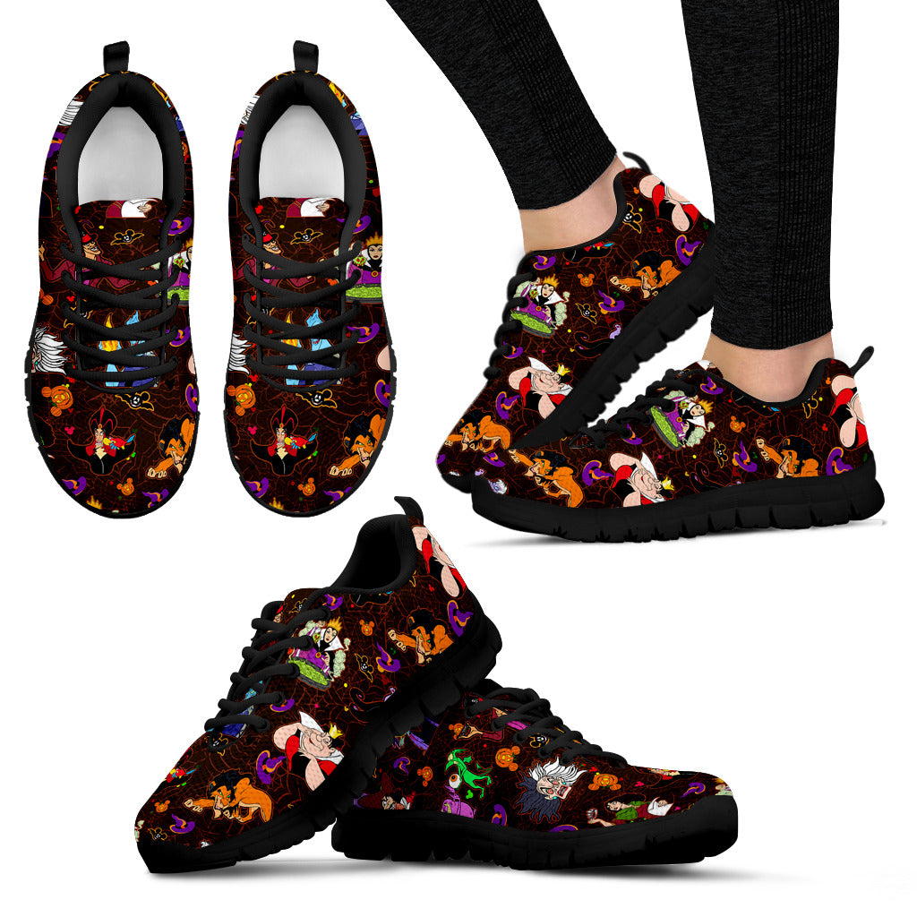 [Express Line Product+ 12$] Villain Disney Halloween Women's Sneakers (Black)