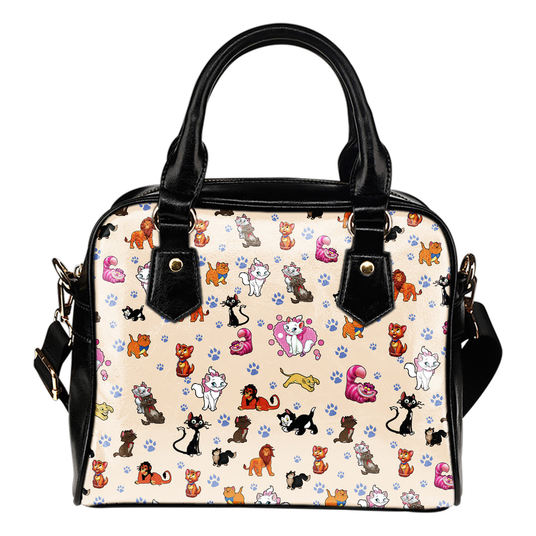 All Cats Shoulder Handbag