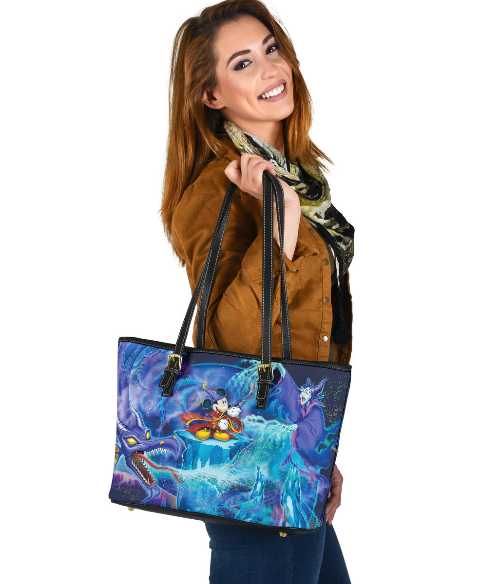 Maleficent Small Leather Tote  [Express Shipping Applied]