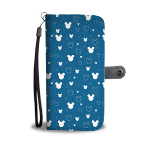 Mickey Blue Wallet Case