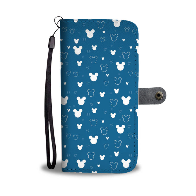 Mk Blue Wallet Case