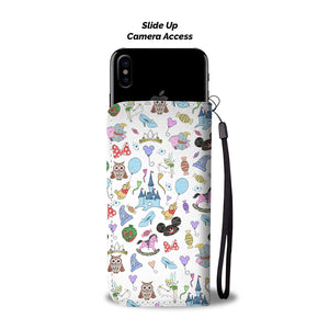 Disney Hats Wallet Case