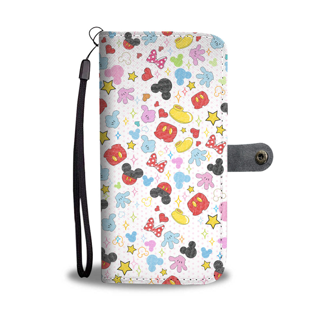 Mickey and Minnie Character Wallet Case